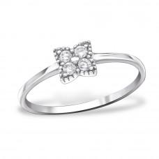 OLIVIE Stříbrný prsten s kubickými zirkony 1028 Velikost prstenů: 5 (EU: 47 - 50)