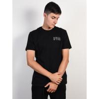 RVCA SERPENT CURVED black pánské tričko s krátkým rukávem - XL