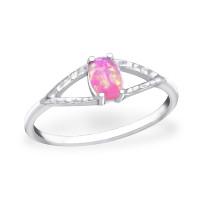 OLIVIE Stříbrný prsten PINK OPAL 0684 Velikost prstenů: 8 (EU: 57 - 58)