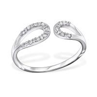 OLIVIE Stříbrný prsten s Cubic Zirconia 1210 Velikost prstenů: 7 (EU: 54 - 56)