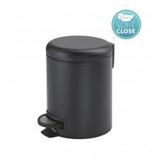 Gedy - POTTY odpadkový koš 3l, Soft Close, černá mat (320914)