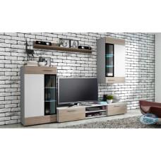 Obývací stěna Tango bílá/dub sonoma - FALCO