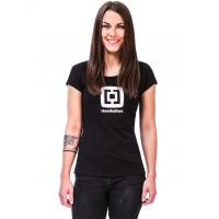 Horsefeathers ELEONOR black dámské tričko s krátkým rukávem - L