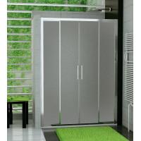 SanSwiss TOPS4 1400 50 22 Sprchové dveře dvoudílné 140 cm, aluchrom/durlux