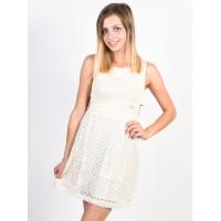 Picture Eva off white společenské šaty krátké - L