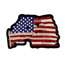 Nášivka zádovka - USA, 24 x 16cm - Motofanda 5483