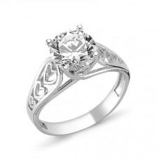 OLIVIE Stříbrný prsten se zirkonem 1365 Velikost prstenů: 9 (EU: 59 - 61)