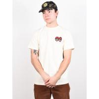 Krooked STRAIT EYES CREAM/RED pánské tričko s krátkým rukávem - XL