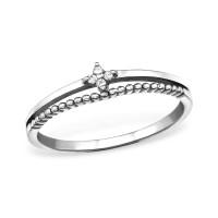 OLIVIE Stříbrný prsten se zirkony 0671 Velikost prstenů: 7 (EU: 54 - 56)