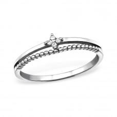 OLIVIE Stříbrný prsten se zirkony 0671 Velikost prstenů: 6 (EU: 51 - 53)