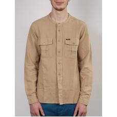 MAKIA FIELD KHAKI pánská košile dlouhý rukáv - L