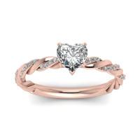 OLIVIE Stříbrný prsten se srdíčkem 2972 Velikost prstenů: 5 (EU: 47 - 50)