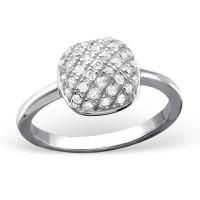 OLIVIE Stříbrný čtvercový prsten 0678 Velikost prstenů: 6 (EU: 51 - 53)