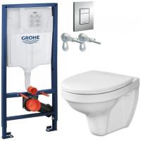 GROHE - Rapid SL Rapid SL pro závěsné WC 38528SET + WC CERSANIT DELFI + SEDÁTKO (38772001 DE1)