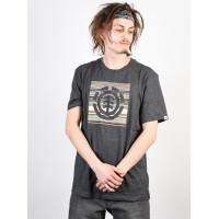 Element INDIANA LOGO BLOCK CHARCOAL HEATHER pánské tričko s krátkým rukávem - M