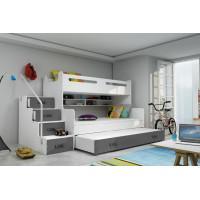 Dětská patrová postel Max 3 s přistýlkou - FALCO