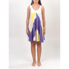 Rip Curl MAZATHLAN LAVENDER FOG společenské šaty krátké - S