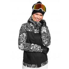 Roxy JETTY BLOCK TRUE BLACK TIGER CAMO zimní bunda dámská - S