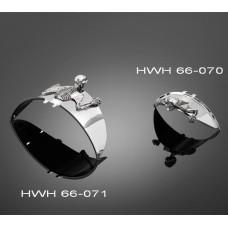 Soška samolepící Highway Hawk SKULL 85mm (lebka), universální (1ks) - Chrom - Highway Hawk HWH 66-070