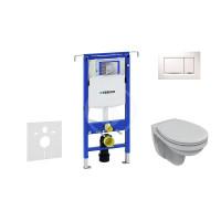 Geberit Sada pro závěsné WC + klozet a sedátko softclose Ideal Standard Quarzo - sada s tlačítkem Sigma30, bílá/lesklý chrom/bílá 111.355.00.5 ND5