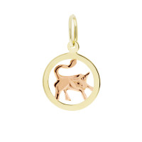 Zlato Zlatý kulatý přívěsek znamení 3220032 Znamení zvěrokruhu: Býk