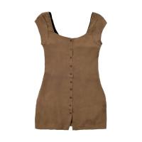 RVCA INTERRUPTION STONE společenské šaty krátké - S