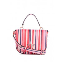 GUESS kabelka Carys Striped Mini Crossbody red multi vel.