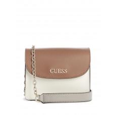 GUESS kabelka Leslie Mini Crossbody bílá vel.