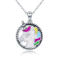 OLIVIE Stříbrný náhrdelník JEDNOROŽEC 3505