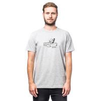 Horsefeathers BUTTER ASH pánské tričko s krátkým rukávem - XL