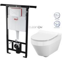 ALCAPLAST - SET Jádromodul - předstěnový instalační systém + WC CERSANIT CLEANON CREA OVÁL + SEDÁTKO (AM102/1120 X CR1)