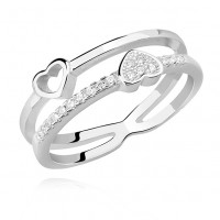 OLIVIE Stříbrný prstýnek TY a JÁ Velikost prstenů: 8 (EU: 57 - 58)