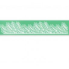 Magic Decor, Silikonová forma na jedlou krajku - 390x80 mm - Lístky
