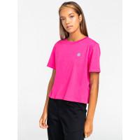 Element POSITIVITY CROP FUSHIA RED dámské tričko s krátkým rukávem - S