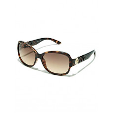 GUESS brýle Round Chain-Temple Sunglasses hnědé vel.
