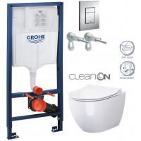 GROHE - Rapid SL Rapid SL pro závěsné WC 38528SET + WC OPOCZNO URBAN HARMONY CLEAN ON + SEDÁTKO (38772001 HA1)