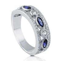 OLIVIE Stříbrný prsten MODRÉ TAJEMSTVÍ 3772 Velikost prstenů: 10 (EU: 62-64)