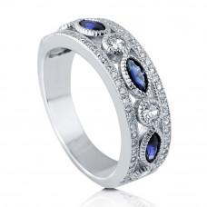 OLIVIE Stříbrný prsten MODRÉ TAJEMSTVÍ 3772 Velikost prstenů: 8 (EU: 57 - 58)