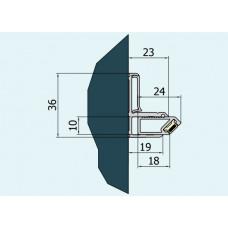 SanSwiss nástěnný profil ESCURA výška 2000 mm aluchrom V.ESC.50