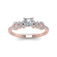 OLIVIE Stříbrný prsten XOXO ROSE 4229 Velikost prstenů: 6 (EU: 51 - 53)