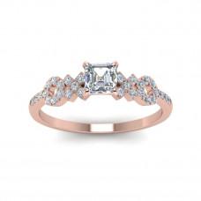 OLIVIE Stříbrný prsten XOXO ROSE 4229 Velikost prstenů: 5 (EU: 47 - 50)