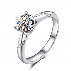 OLIVIE Stříbrný zásnubní prsten AMBER 4131 Velikost prstenů: 7 (EU: 54 - 56)