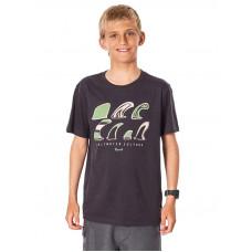 Rip Curl SWC FIN washed black dětské tričko s krátkým rukávem - 10