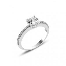 OLIVIE Stříbrný zásnubní prstýnek se zirkonem 3901 Velikost prstenů: 8 (EU: 57 - 58)