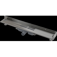 Alcaplast APZ116-550 LOW Podlahový žlab s okrajem pro plný rošt, pevný límec ke stěně kout min. 600mm (APZ116-550)