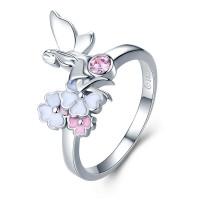OLIVIE Stříbrný prsten TŘEŠŇOVÁ VÍLA 3508 Velikost prstenů: 8 (EU: 57 - 58)