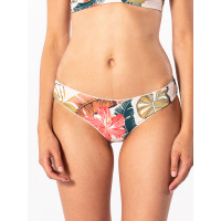 Rip Curl TROPIC COAST CHEEKY HOT CORAL plavky dámské dvoudílné luxusní - S