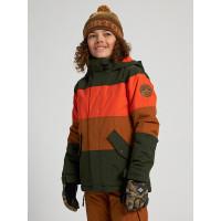 Burton SYMBOL ORANGEADE MULTI dětské zimní bundy na snowboard - M