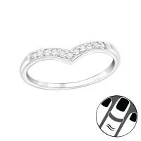 OLIVIE Stříbrný midi prsten 2498