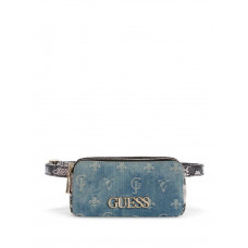 GUESS ledvinka Skye Denim Belt Bag modrá vel.